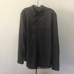 Men's Hurley long sleeved button front shirt